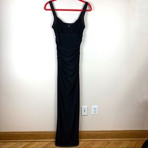 Ralph Lauren Black Sweetheart Neck Evening Gown